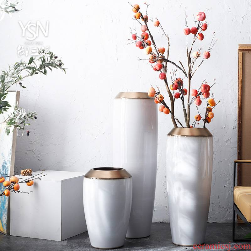 The sitting room porch flower flower implement decorative flower arranging furnishing articles jingdezhen ceramic hotel villa covers landing big vase