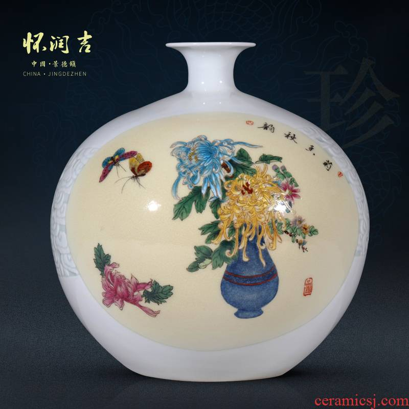 Cixin qiu - yun, jingdezhen ceramics by hand draw pastel by fragrance vase Chinese style living room TV ark adornment furnishing articles