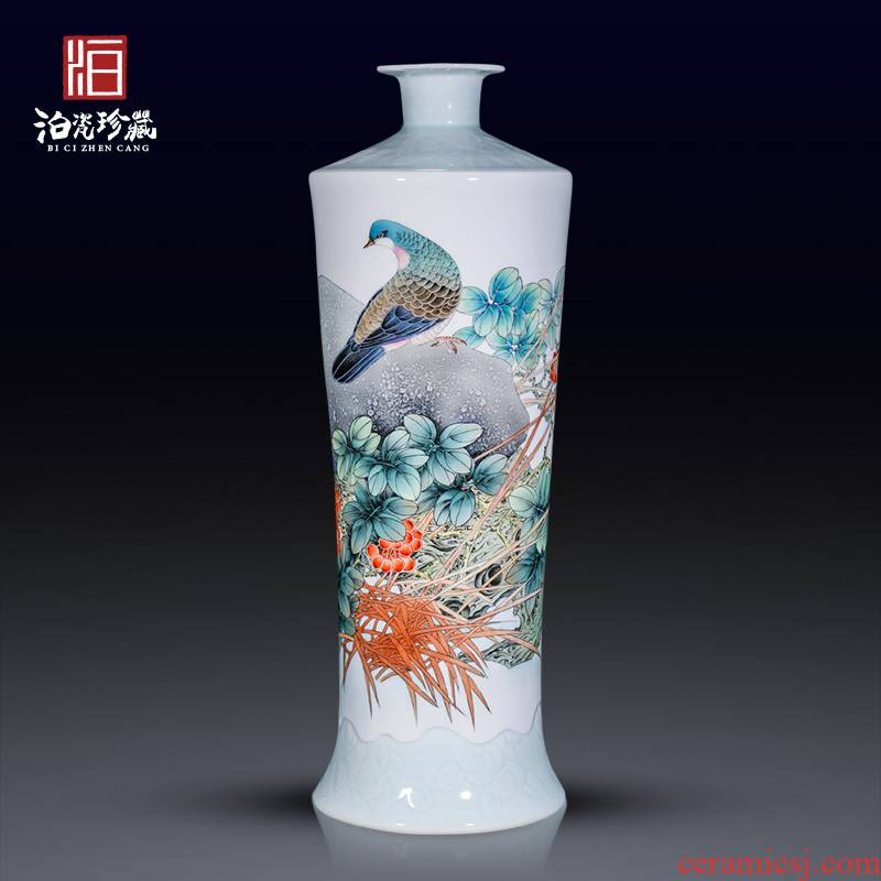 Hand - made jingdezhen ceramics powder enamel vase of large living room TV cabinet decoration collection of new Chinese style furnishing articles