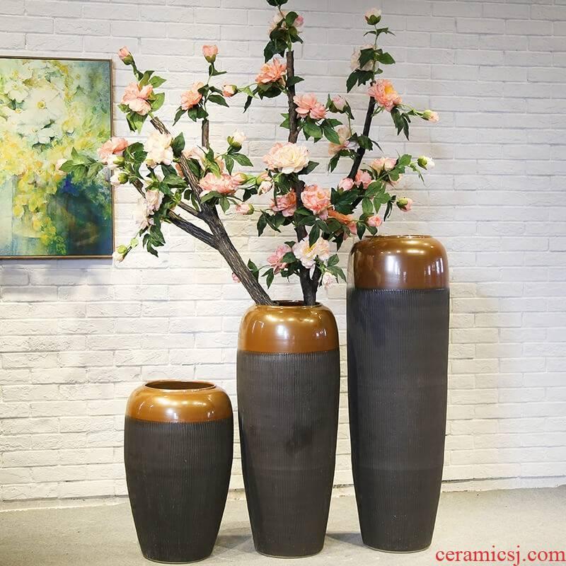 Jingdezhen hotel villa large vase club garden decoration large landing place flower show the living room