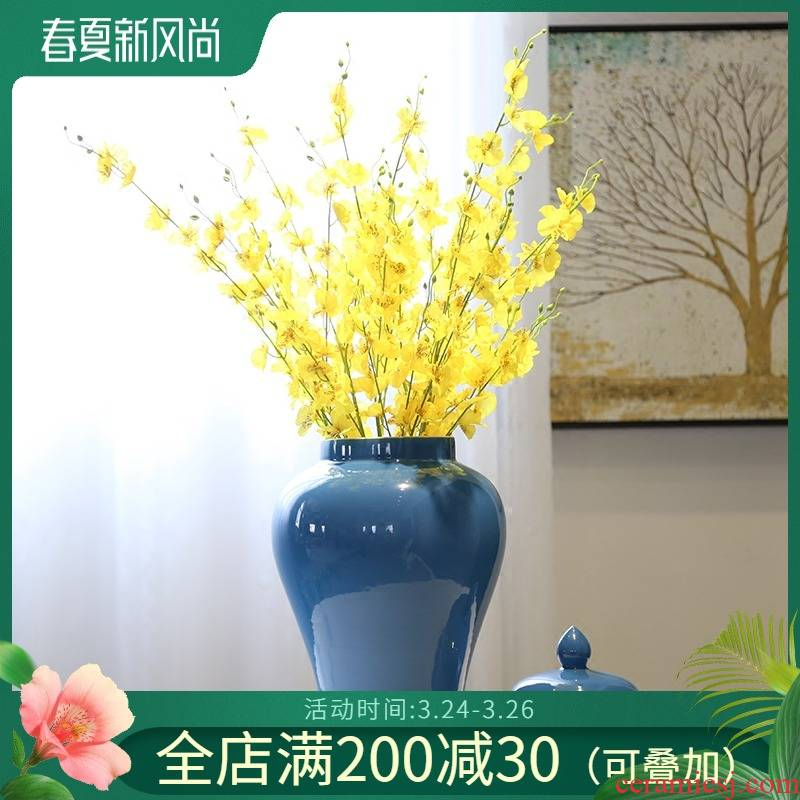 Chinese creative club sitting room adornment general tank vases, ceramic flower receptacle caddy fixings tea table porch place