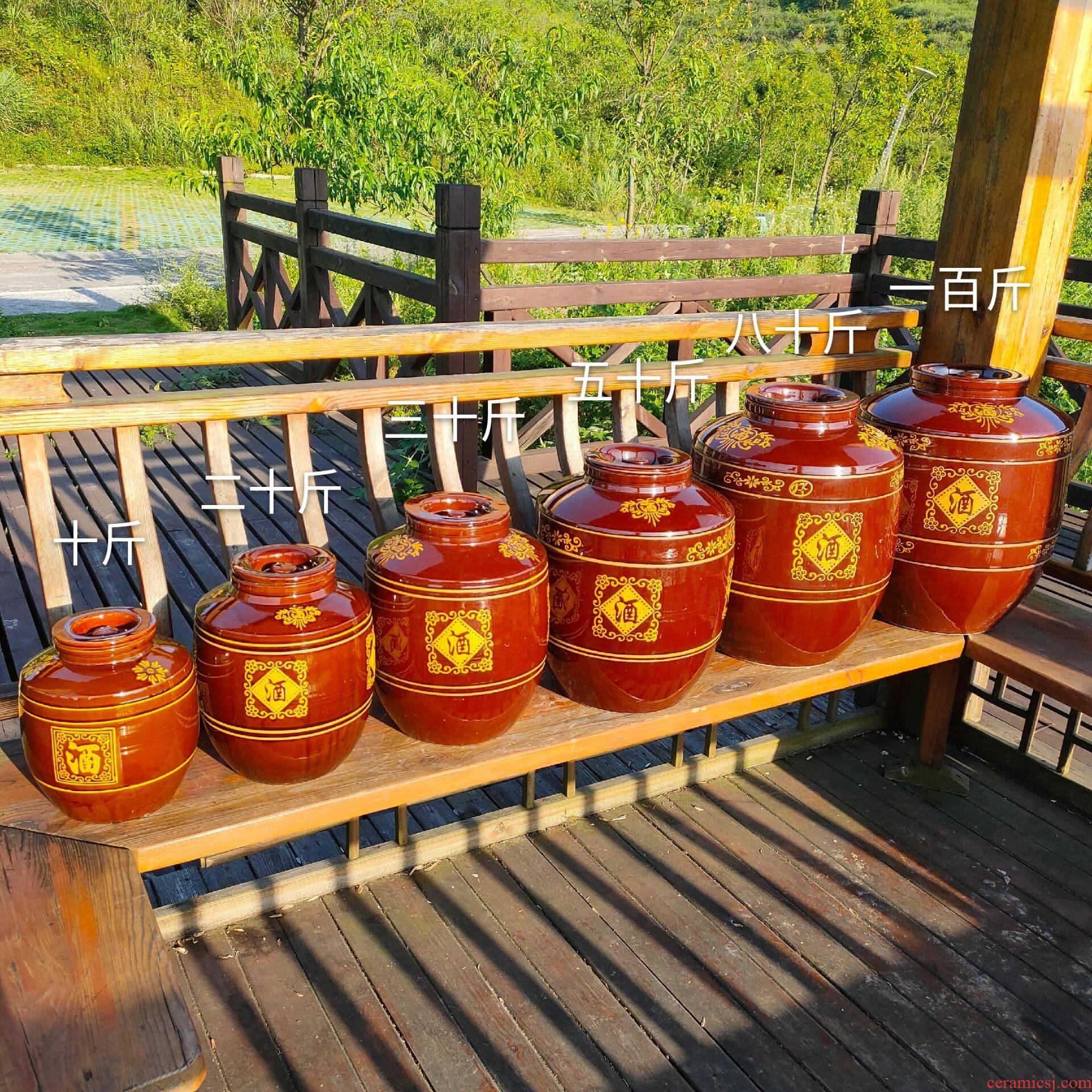 Ceramic jars it great earthenware jar sealing jugs with wine yeast of 10-100 tons of household hoard jars