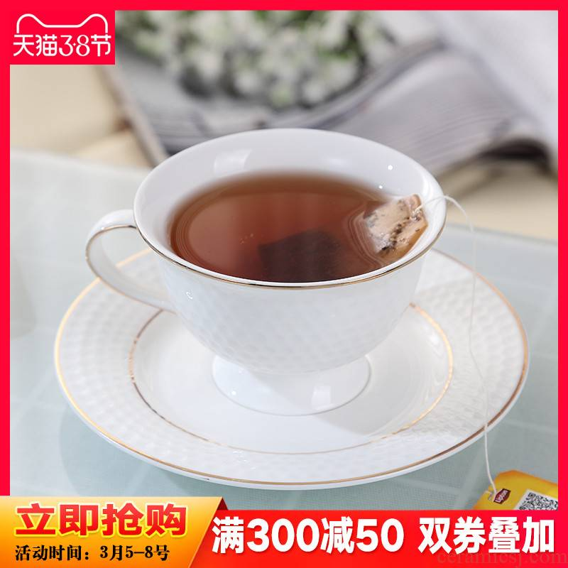 Ipads China coffee cups suit elegant contracted Europe type ceramic cups suit cup with coffee spoon in the afternoon