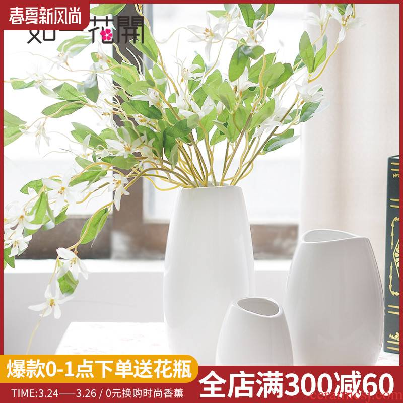 """According to Japanese modern night snow pure and fresh and contracted ceramic vases, furnishing articles home sitting room TV ark of tea table decorations"