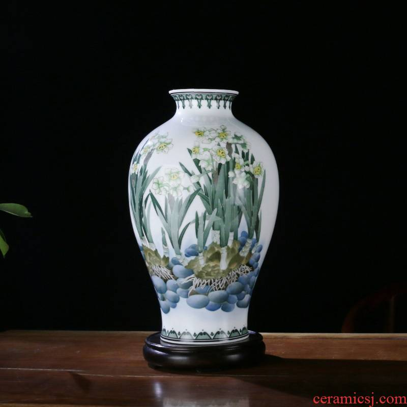 Under the liling porcelain glaze porcelain good remit hand - made ceramic vase colorful ceramics sitting room place giving pure and refreshing