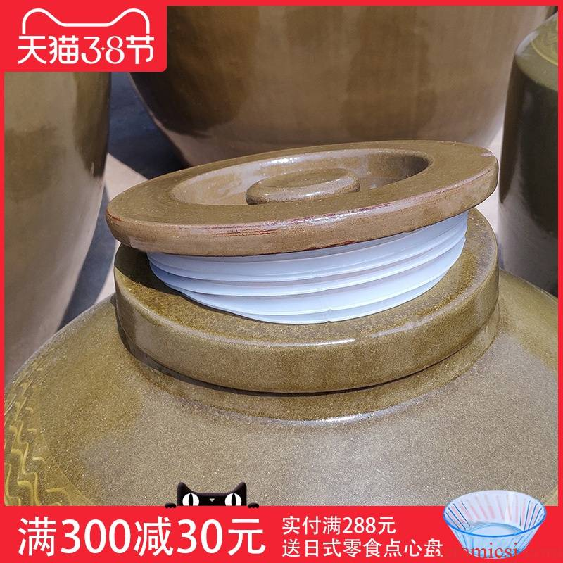 With thick soil ceramic jars With silicone cover it liquor store wine storage jar sealing parts