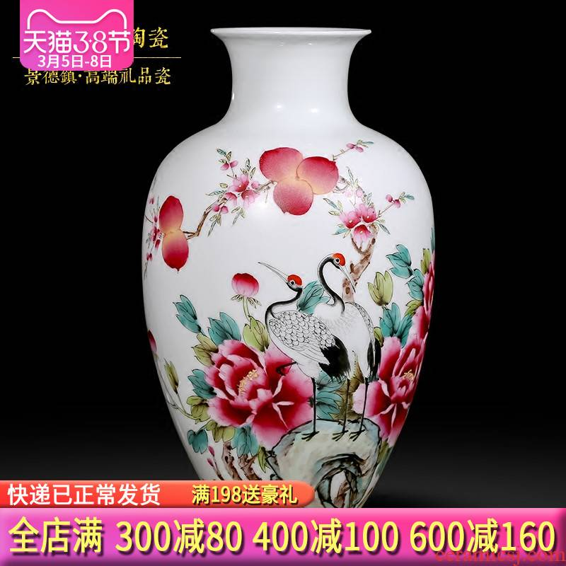 Famous master of jingdezhen ceramics hand - made vases, Chinese style living room decoration handicraft penjing collection certificate