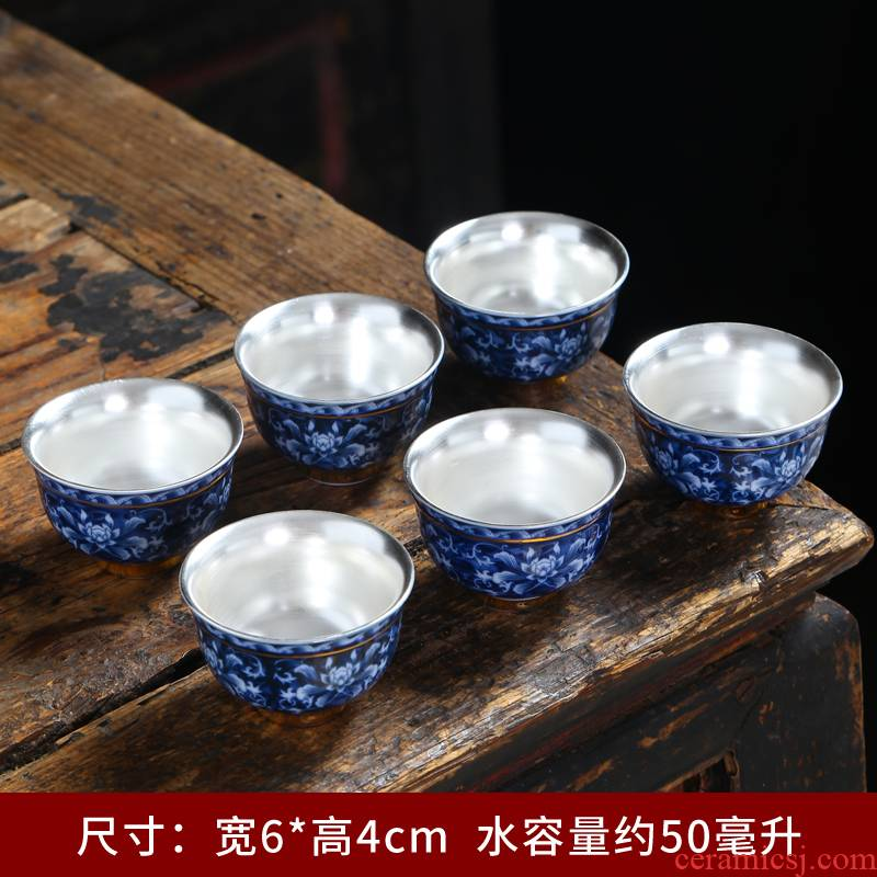 The Sample tea cup dehua white porcelain ceramic masters cup personal cup single CPU kung fu tea set the see colour noggin puer tea cup