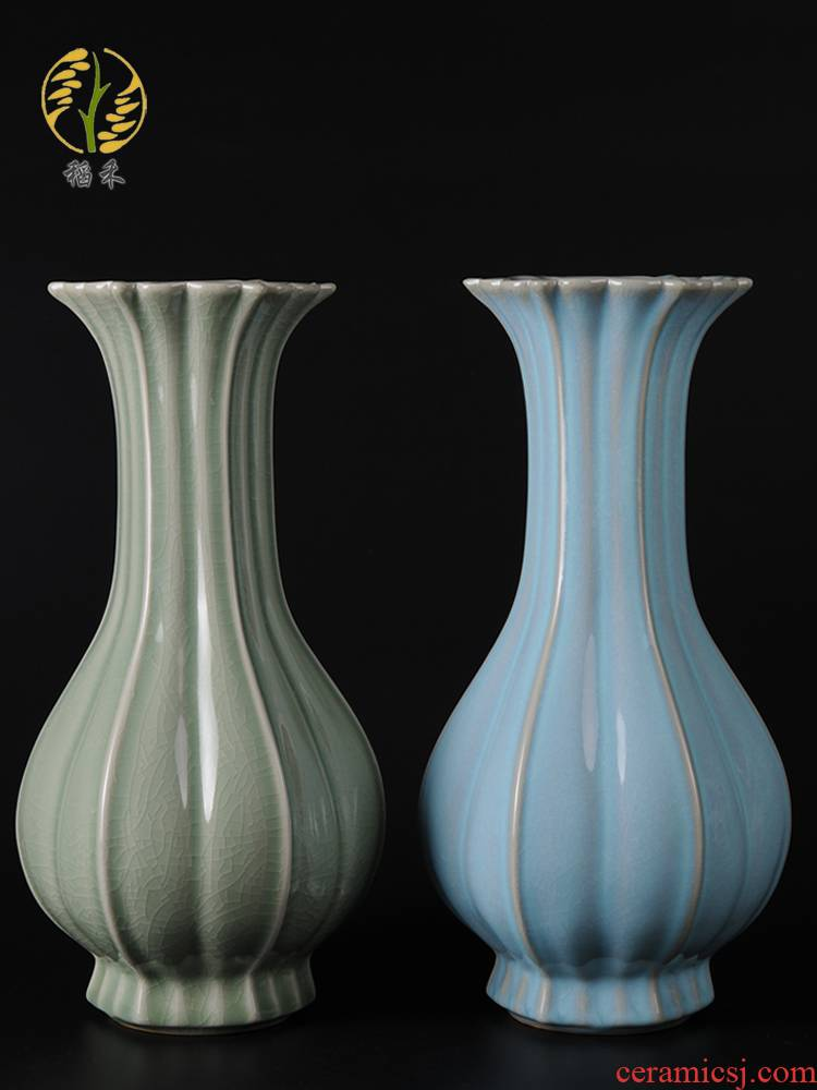 Archaize your up craft ceramic vase furnishing articles Chinese contracted household sitting room adornment ornament Chinese wind restoring ancient ways