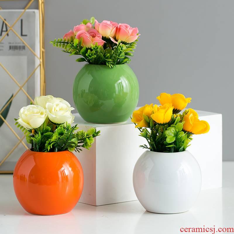 Floret bottle of TV ark, flower arranging Nordic style ceramic home furnishing articles, the sitting room porch decoration handicraft ornament