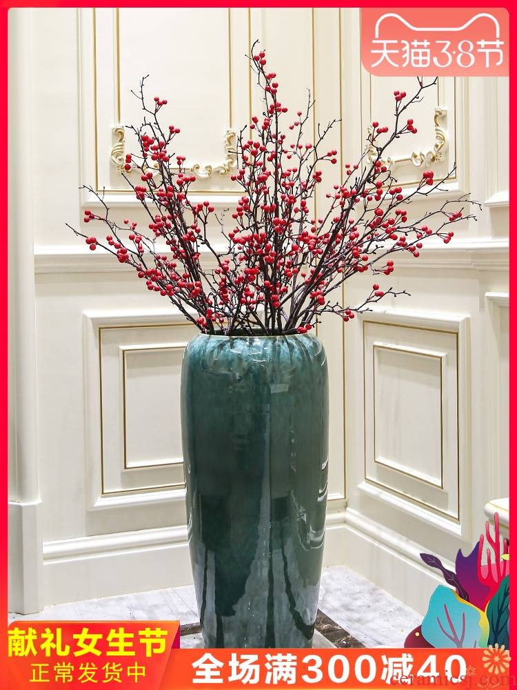 New Chinese style ceramic up of large vases, I and contracted hotel villa decorations furnishing articles flower arranging flower implement