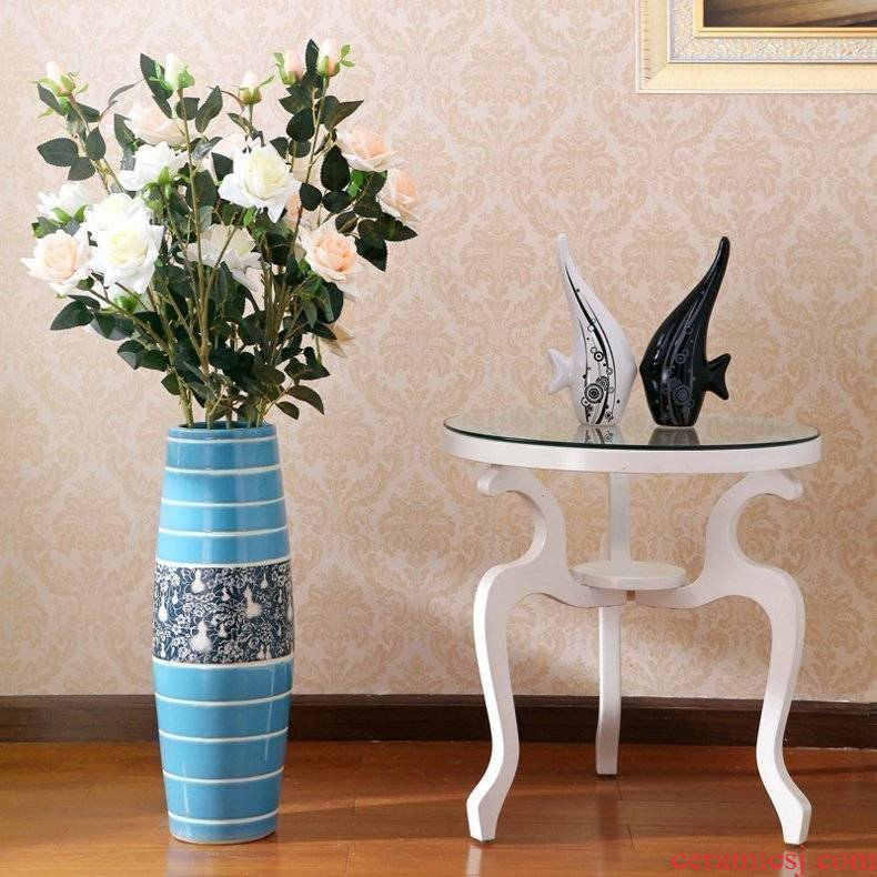 Modern fashion and contracted sitting room ceramic vase landing home decoration vase furnishing articles of rural adornment ornament