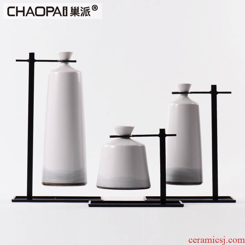New Chinese style white porcelain pot vase creative furnishing articles contracted between example units shoe ark, soft adornment handicraft