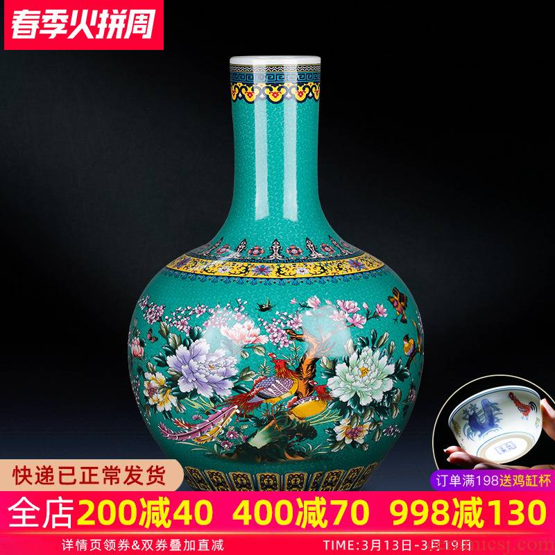Jingdezhen ceramics of large vase furnishing articles large flower arrangement sitting room adornment I household act the role ofing is tasted TV ark