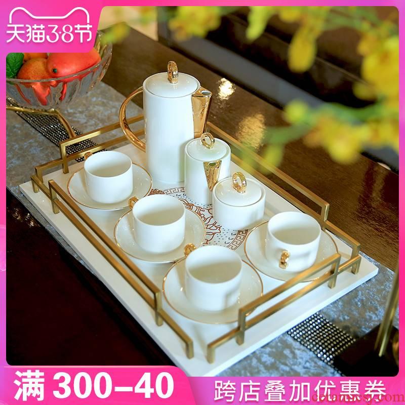 European example room sitting room tea table decorations decoration ceramic coffee set home afternoon tea tea set