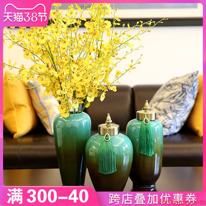 New Chinese style creative home TV ark, vases, ceramic table type dry flower arranging flowers sitting room adornment furnishing articles