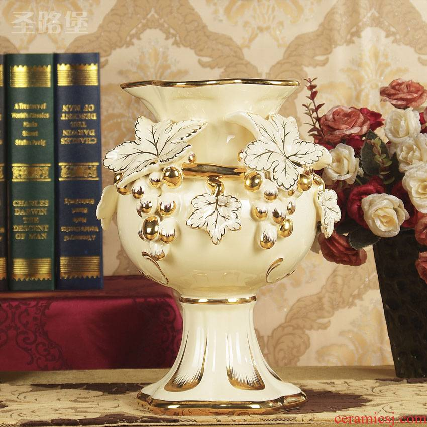 SAN road fort European vase creative ceramic decoration large living room TV cabinet decorative vase wedding gift