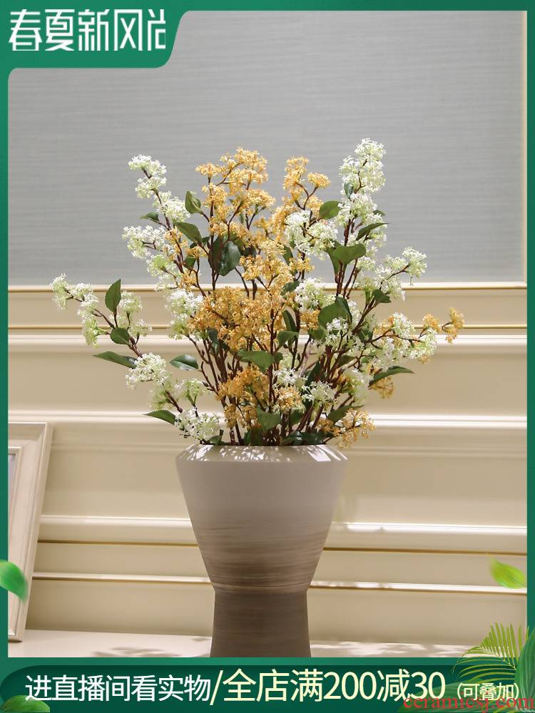 I and contracted jingdezhen ceramic vase furnishing articles living room table flower arranging the Nordic creative dried flower adornment ornament