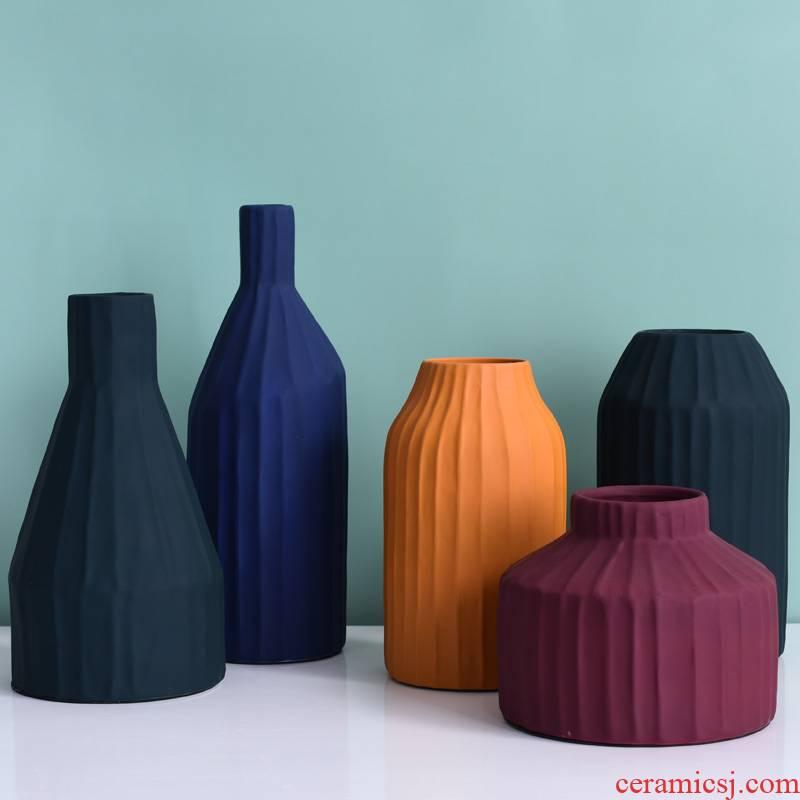 Nordic household ceramic vase furnishing articles sitting room TV cabinet dry flower flower flower vase creative table decorations