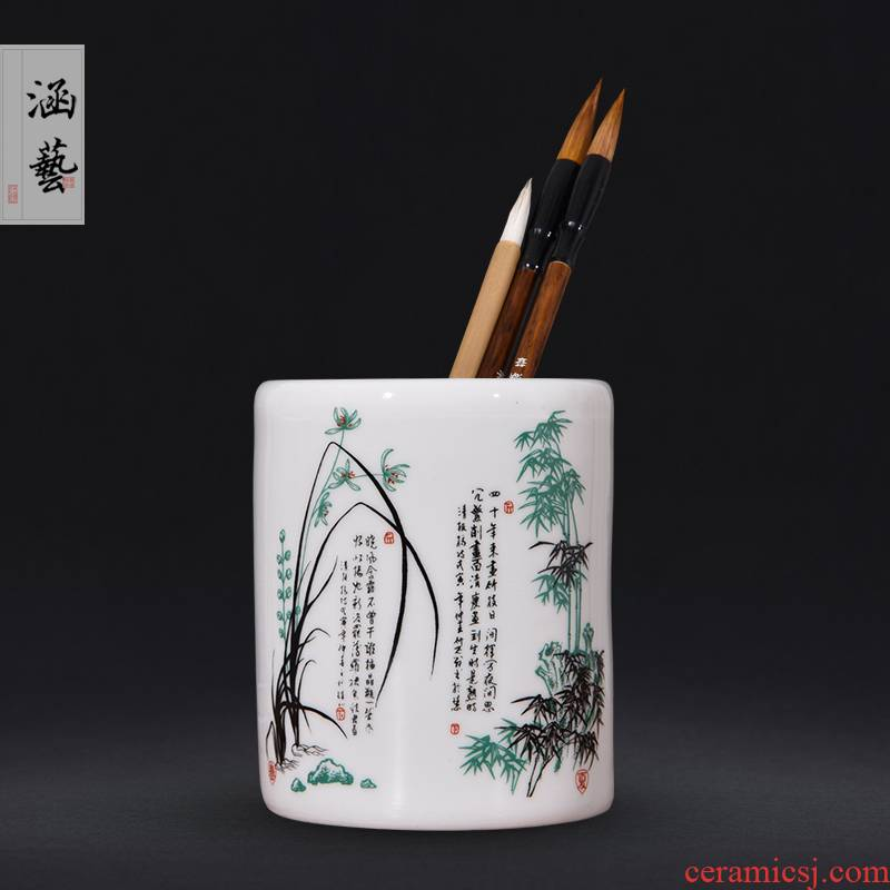 Jingdezhen ceramics powder wariety pen container by patterns of office furnishing articles decoration supplies many marketers optional hair brush pot