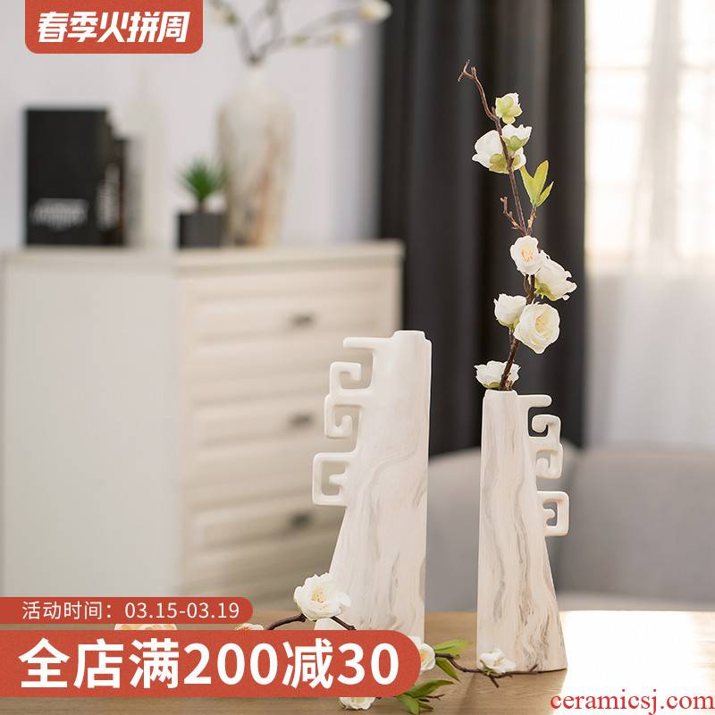 Like a flower I and contracted ceramic vase furnishing articles creative living room table decoration decoration flower vase
