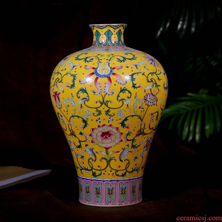 Archaize ceramic vase furnishing articles do old jingdezhen mei decorative antique decoration home sitting room handicraft collection bottle
