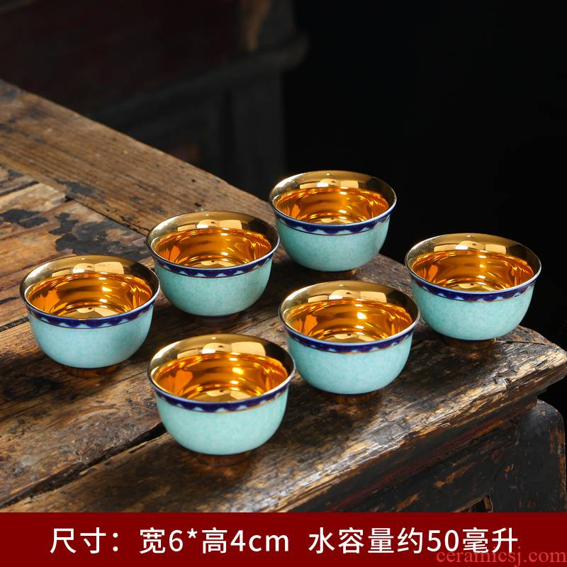 The Sample tea cup single CPU ceramic masters cup kung fu tea cup under the glaze color hand - made white porcelain porcelain small personal tea cup