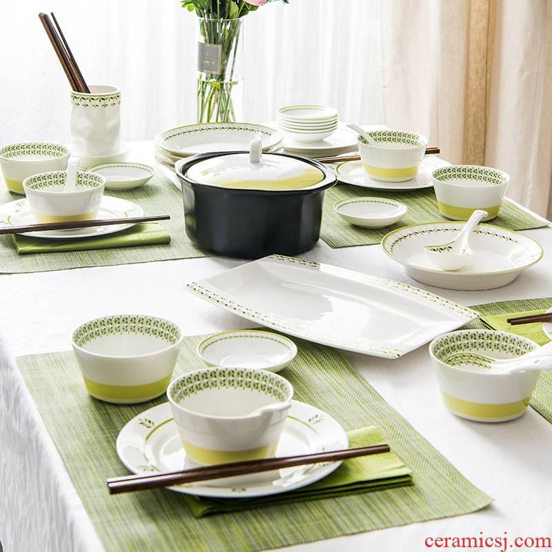 Soul porcelain tableware suit Korean Chinese tableware creative ceramic bowl of soup bowl rainbow such as bowl dish dish dish dish