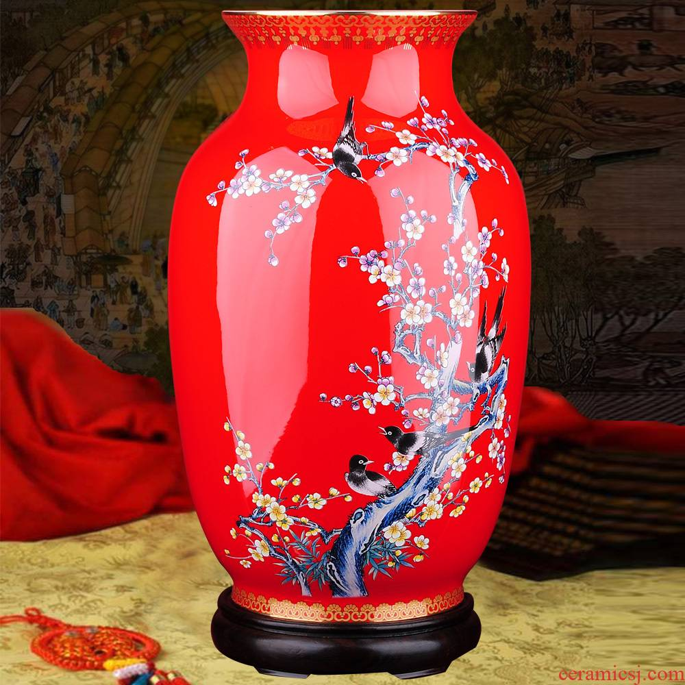 Xi mei tip on the colored enamel hand - made ceramic vases, flower implement furnishing articles HY 3422 household decorations arts and crafts