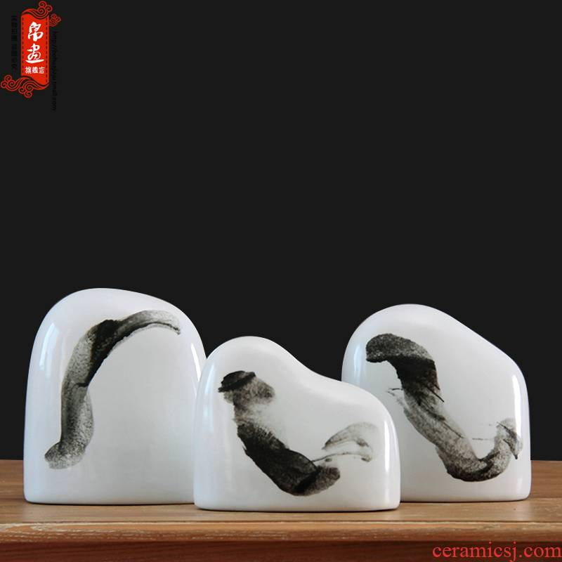 Modern new Chinese style home club villa hotel ceramic furnishing articles creative household soft adornment of TV ark