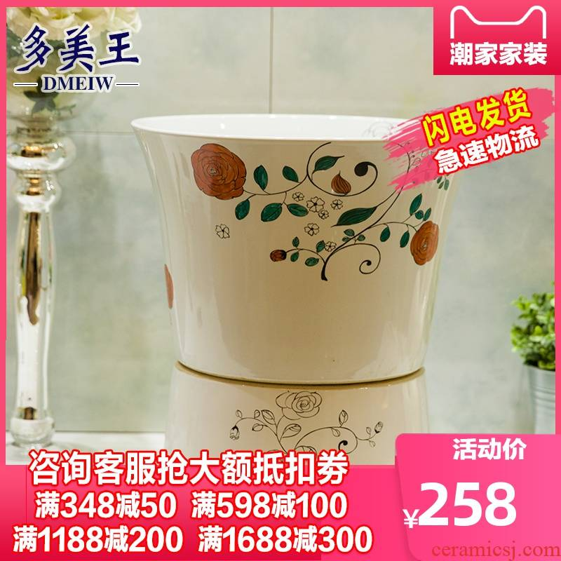 What king of jingdezhen ceramic art basin mop pool porcelain household balcony floor mop pool small mop pool