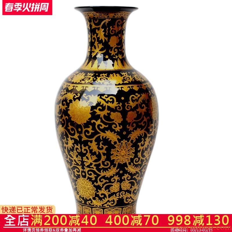 Sharply aj35 jingdezhen ceramics glaze of large vases, flower arranging office decoration handicraft furnishing articles in the living room