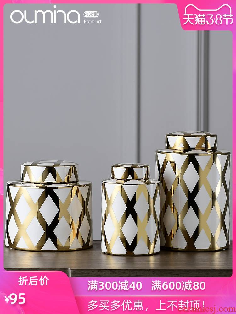 The mina Nordic home wine sitting room place adornment utility jar flower implement creative arts and crafts decoration