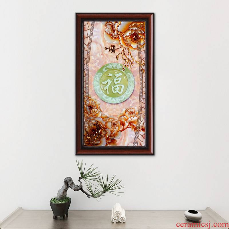New Chinese style ceramic mural sitting room sofa setting wall decoration bedroom horizontal version stair porch corridor hang a picture