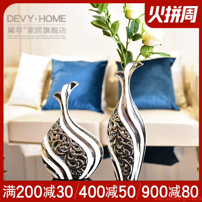 I and contracted ceramic vases, TV ark, creative furnishing articles wine sitting room adornment ornament household act the role ofing is tasted flower arrangement