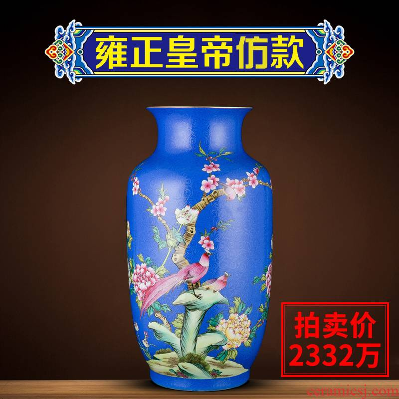 Better sealed up with enamel furnishing articles of the new Chinese style household jingdezhen ceramic vases, hand - made handicraft sitting room adornment