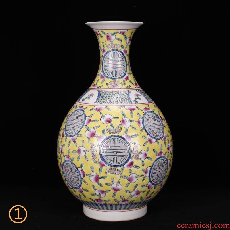 Jingdezhen imitation of the qing emperor kangxi style antique Chinese antique vase household decoration as old goods ceramics penjing collection