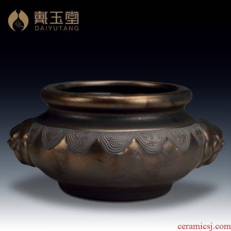 Yutang dai rust ceramic glaze antique aroma stove Buddha incense buner/smoked incense buner 2 or more optional D83-62