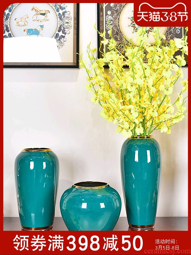Modern light key-2 luxury living room place vase hydroponic ceramics jingdezhen new Chinese style porch TV ark, adornment