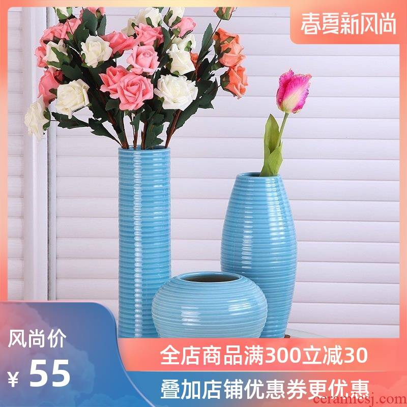 I and contracted American lucky bamboo vases, flower receptacle household act the role ofing is tasted decorate furnishing articles flowers, jingdezhen ceramic vase