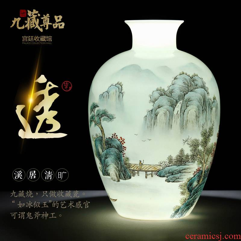 Jingdezhen ceramics hand - made vases furnishing articles sitting room of the new Chinese style flower arranging Nordic home wine decorative arts and crafts