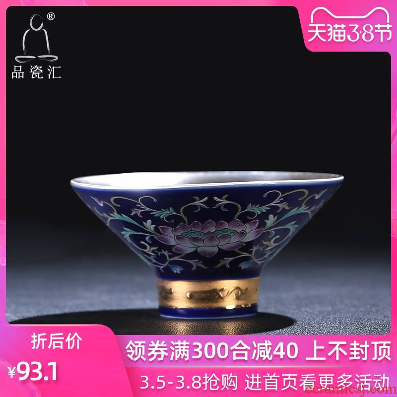 The Product of jingdezhen porcelain remit coppering. As grilled silver flower hat cup kung fu tea set manually coppering. As silver master single ceramic cups