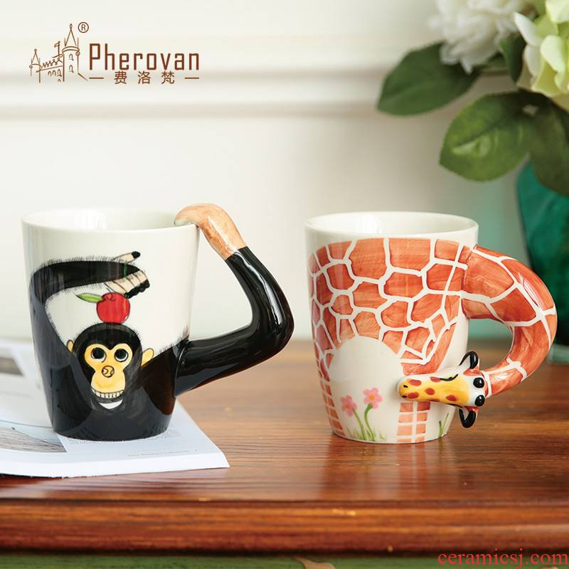 3 d animal ceramic keller cup creative move office handpainted mugs picking cups of coffee cup