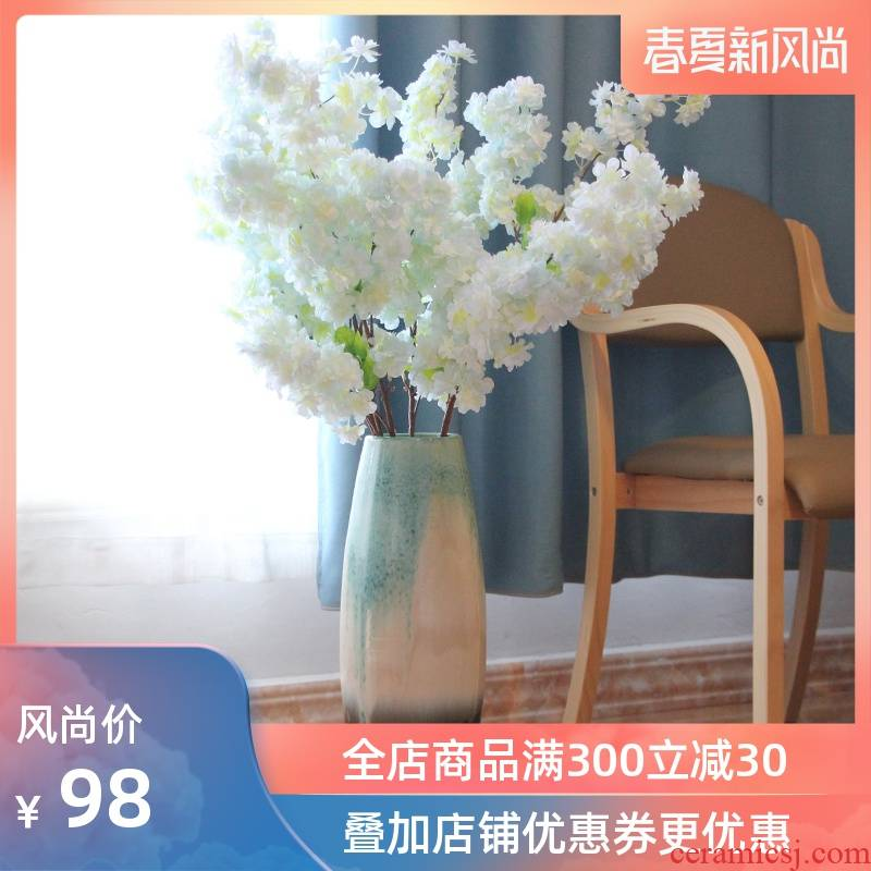 I and contracted Europe type of jingdezhen ceramics sitting room ground flower implement three glaze up vases, decorative furnishing articles