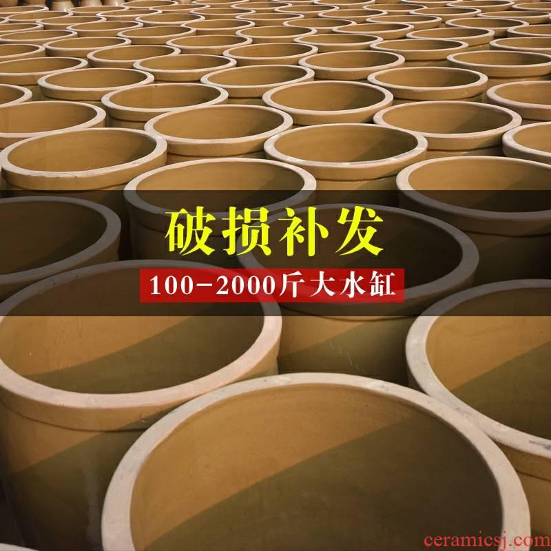 Large tank ceramic tank JiangGang household barrel old pickle fermentation cylinder water lily fish 100/1000 kg