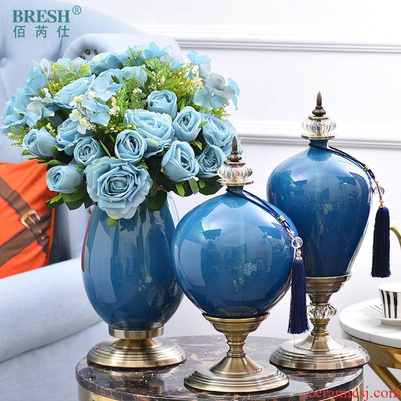 I and contracted Europe type ceramic vase simulation floral suit furnishing articles housewarming gifts to his new house decorations