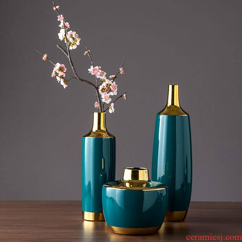 Jingdezhen ceramic vase Nordic contracted and I sitting room, TV ark, furnishing articles table dry flower decoration flower arranging flowers