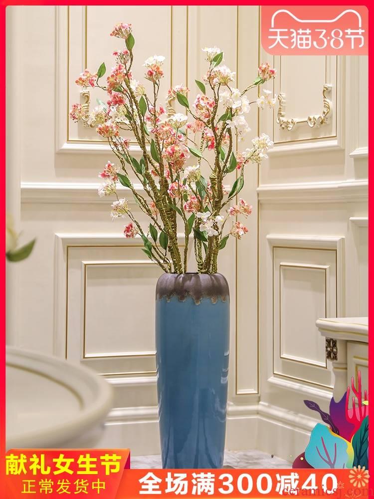 Contracted and I large ceramic vase landing place hotel sitting room bedroom dry flower villa decoration flower arranging simulation