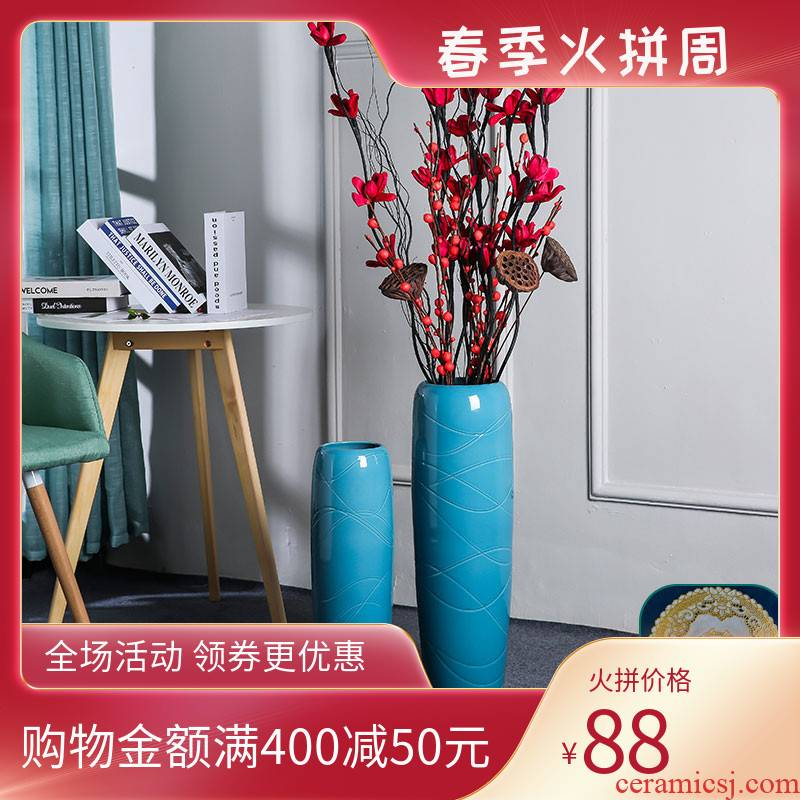 European - style decorative furnishing articles ceramic flower arranging dried vase creative home sitting room desktop TV ark to send wedding present