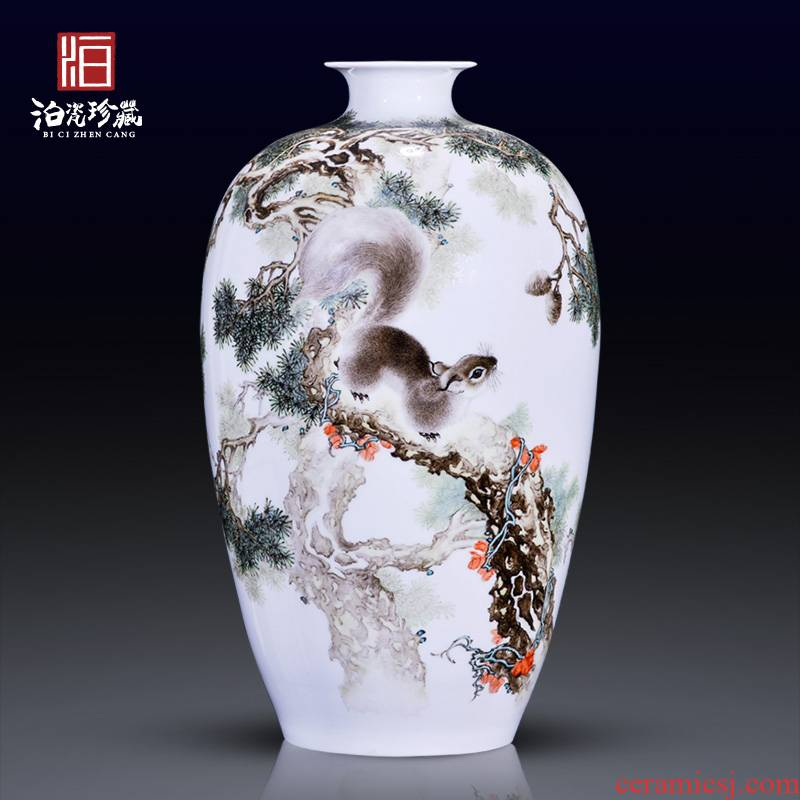 Jingdezhen ceramics hand - made pastel pines vases, new Chinese style home sitting room, bedroom adornment home furnishing articles